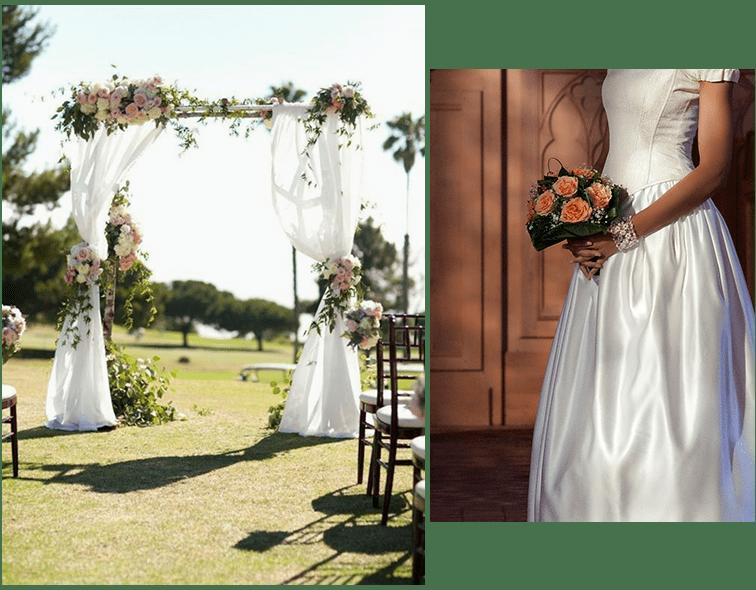 large choix d'arrangements floraux pour votre mariage chez votre fleuriste à Luzarches